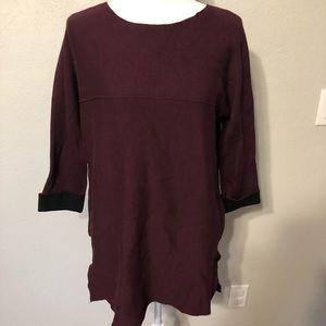 NWT TAHARI Sweater Sweatshirt Maroon Pockets SMALL